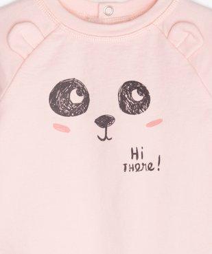 Combinaison bébé sans pieds à motif panda vue3 - GEMO(BB COUCHE) - GEMO