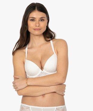 Soutien-gorge femme en dentelle avec dos croisé vue1 - GEMO(HOMWR FEM) - GEMO