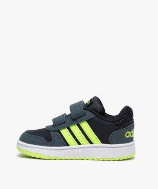 Baskets bébé garçon avec bandes fluo – Adidas Hoop 2.0 vue3 - ADIDAS - GEMO