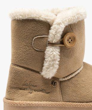 Boots fille en suédine à col fourré – LuluCastagnette vue6 - LULU CASTAGNETT - Nikesneakers