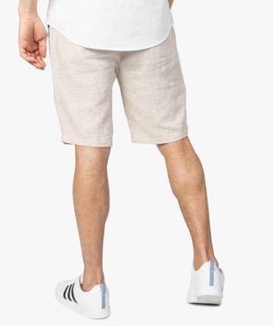 Bermuda homme en lin et coton avec ceinture cordon vue3 - Nikesneakers (HOMME) - Nikesneakers