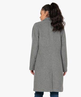 Manteau femme mi-long à col tailleur vue3 - GEMO(FEMME PAP) - GEMO