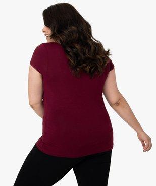 Tee-shirt de nuit femme avec col V bordé de dentelle vue3 - GEMO(HOMWR FEM) - GEMO