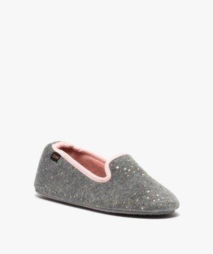 Chaussons femme slippers en velours pailleté - Dim vue2 - DIM - GEMO