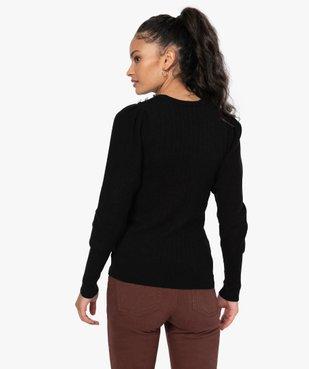 Pull femme avec manches froncées et boutons sur l'épaule vue3 - GEMO(FEMME PAP) - GEMO
