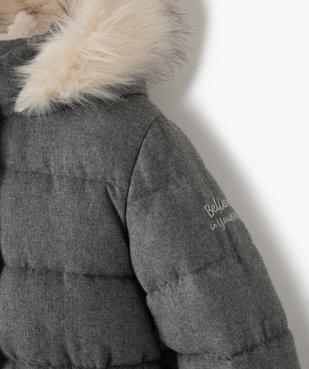 Parka fille avec doublure chaude et capuche fantaisie vue3 - GEMO (ENFANT) - GEMO