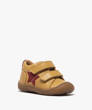 Chaussures premiers pas bébé garçon à scratch - Bopy vue2 - BOPY - GEMO