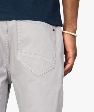Bermuda homme en coton stretch vue2 - GEMO (HOMME) - GEMO