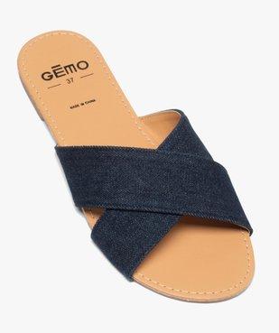 Sandales femme à larges brides croisées souples dessus denim vue5 - GEMO (CASUAL) - GEMO