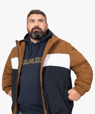 Blouson homme tricolore avec capuche vue1 - GEMO (G TAILLE) - GEMO